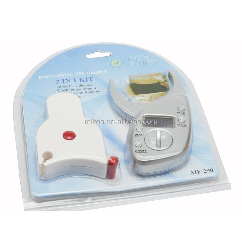 Digital body fat caliper and body measure tape 2in 1 Kit