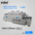T-960 LED reflow oven/wave soldering machine/bga chips/PCB/SMT/soldeing oven/5 zones/leadfree/infrared/device