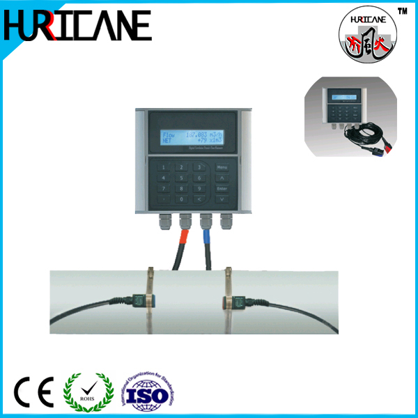 Clamp on Ultrasonic chemical liquid flow meter/flowmeter/water flowmeter liquid flow sensor