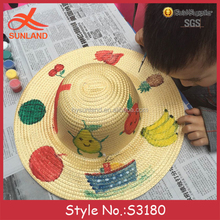 S3180 new 2017 children best gifts diy colorful mini straw hats to decorate wholesale