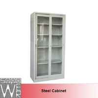 Glass library cupboard/chemical storage cabinet