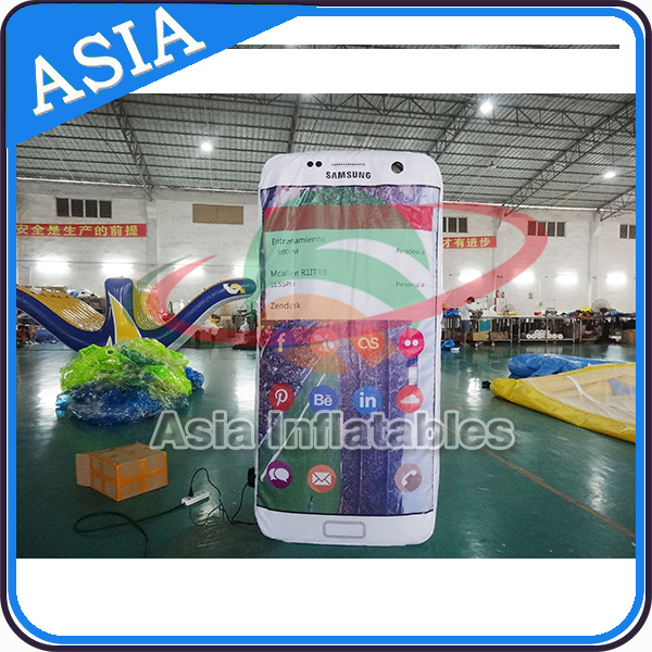 Inflatable Phone Shape Model For Promotion / 2mH Inflatable Mobile Phone Replica