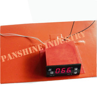 Silicone rubber heater element with digital thermostat and timer with the pads
