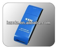 Quality USB 2.0 Card Reader,Ssk 1+1 in 1 Card Reader, Reader