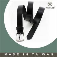 Black leather snap strap belt mens 35mm removable western formal strap