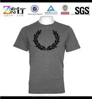Wholesale custom gray cotton tshirt design tshirts printing t-shirt for men