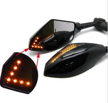 Motorcycle Rearview Mirrors with LED Turn Signal Integrated Yzf Fzr 600 1000 R1 R6 FZ1 FZ6
