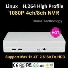 Onvif Linux embeded P2P PNP real time 8ch 4ch onvif NVR 1080p HOT SALE