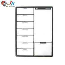 Factory supply customized dry erase flexible magnetic whiteboard sheet for refrigerator