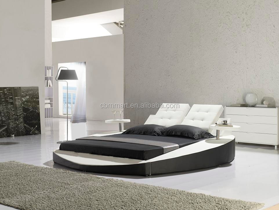 leather round bed italian leather bed modern leather bed
