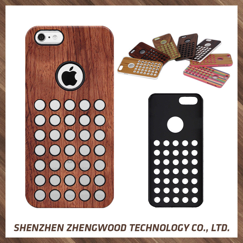 Modern design machine real wood mobile phone case wood cellphone case for Apple iPhone