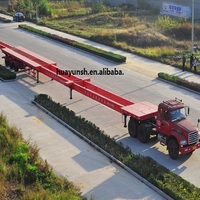 China Trailers Hydraulic Steering Extendable Lowboy