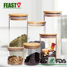 FEAST high borosilicate glass storage jar customized Guangzhou factory