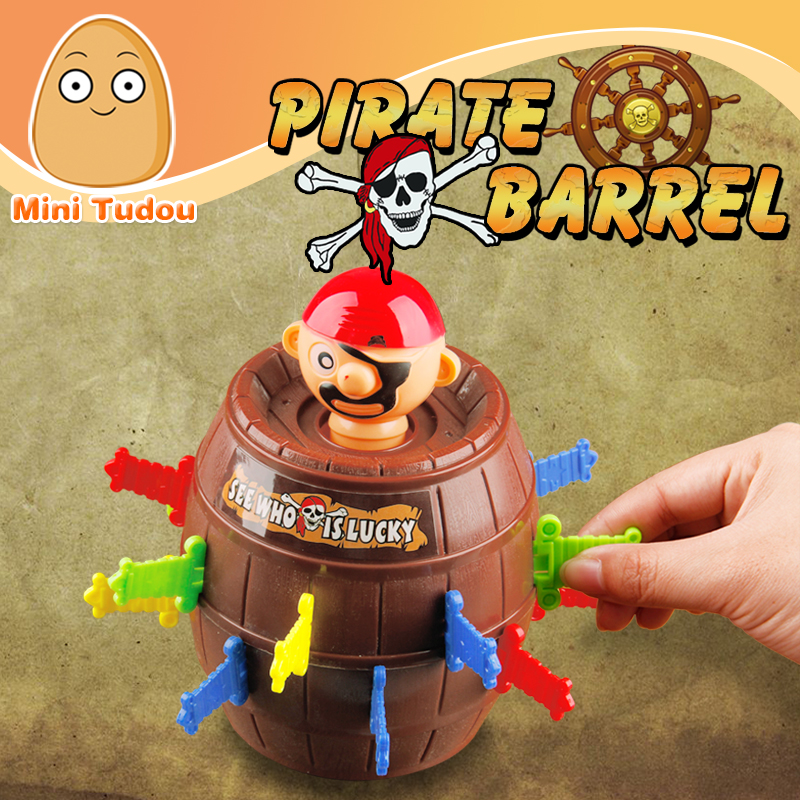 Minitudou Children Funny Novelty 16 Swords Bigger Size Barrel Game <strong>Toys</strong> Super Interesting Pirate Tricky <strong>Toy</strong>