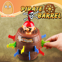 Minitudou Children Funny Novelty 16 Swords Bigger Size Barrel Game Toys Super Interesting Pirate Tricky Toy