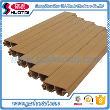 Hight quality wood grain Interior Roller Shutter for kitchen cabinet plastic door