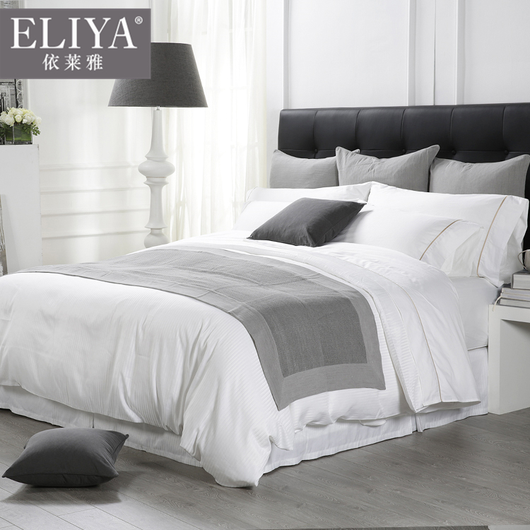 Professional guangzhou 4pc linen hotel bedding set hotel bed linen,hotel bed linen bedding set