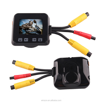 2.0 inches LCD screen 720P HD dual lens motorcycle DVR waterproof motorbike camera support pre-recording