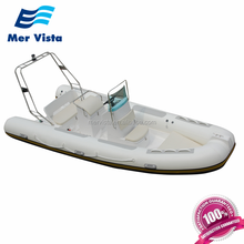 Hypalon China PVC Fiberglass Hull Inflatable RIB Boats Rigid Console