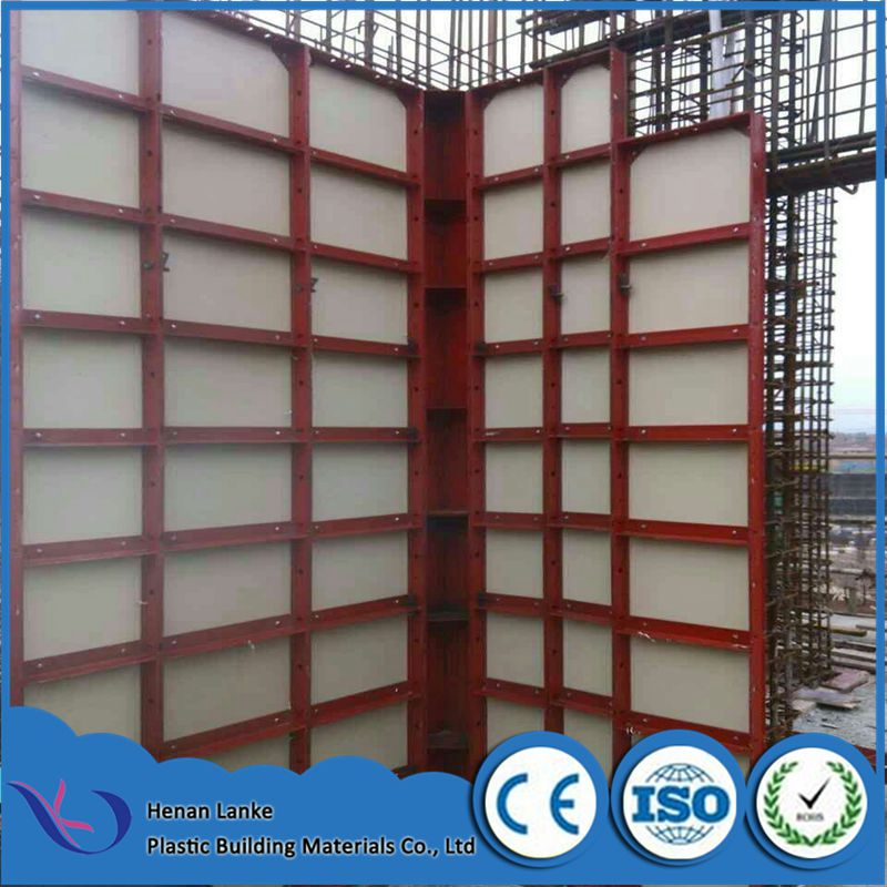 PVC shuttering plates form boards for concrete
