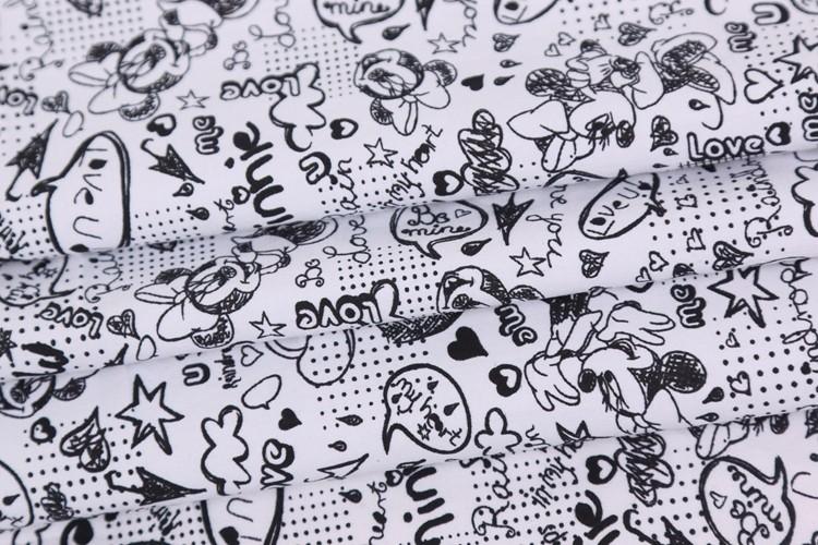 Zhejiang têxteis peso leve dos desenhos animados tecido 100% algodão popeline tecido de impressão digital de preço por metro