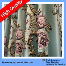 3D embossed draperys fabric for curtains,Blackout embroidered sheer voilce curtain fabric