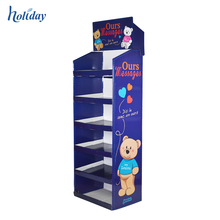 Supermarket Retail Custom Corrugated Display Stand,Cardboard Floor Display Stand Factory Supplier