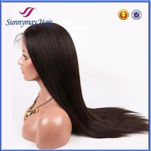 "8""-30"" Stock Sunnymay Natural Color Silky Straight Full Lace Wigs Top Quanlity 100% Peruvian Virgin Human Hair Wig"