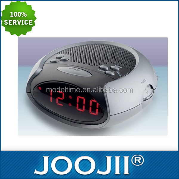 2015 Latest Design Digital Alarm Clock Radio with Red Backlight