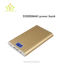 2015 new 50000Mha powerful aluminium alloy plate portable multifunctional for camera Ipad car laptop mobile power bank