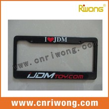 USA Size Plastic Main Material Custom Car Number Plate Frame