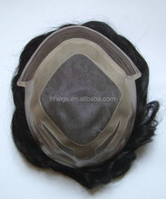 Invisible Pu Base Blonde Human Hair Toupee For Women