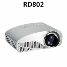 Excelvan RD-802 Portable Mini Projector Home Theater RD802 LCD LED Projector 480*320P With BoxKing/USB/SD/VGA/AV/Audio Input