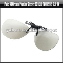 1 Pairs 3D Circular Polarized Glasses 3D Reald TV Glasses Clip On, YAM312A