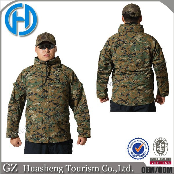 Camouflage camo waterproof tactical hunting jacket for men
