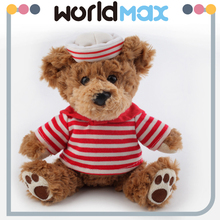 All Kinds Of Stuffed Soft red T-shirt Sailor Teddy Bear Plush Toy