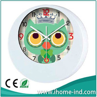 cartoon design plastic children wall watches for hoem decoration