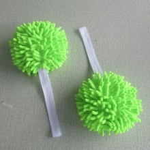 Microfiber chenille screen cleaning ball