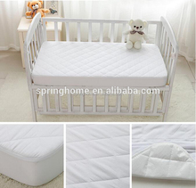Cotton quilted crib waterproof mattress protector for babies