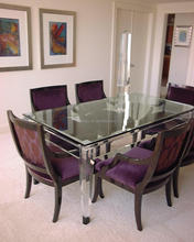 Cheap Crystal Acrylic Pure New Style Dining Table Set