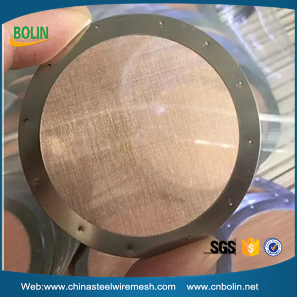 ultra fine phosphor bronze wire mesh coffee filter disc (free sample)