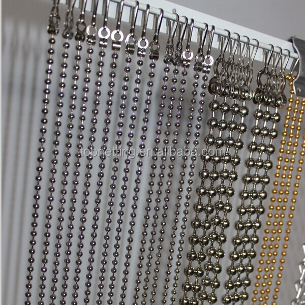Ball chain curtain