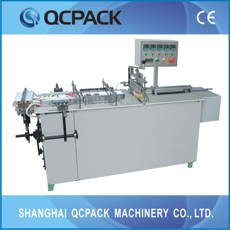 semi automatic cellophane film over wrapping machine for biscuit