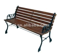 3 Person Cast iron and wood garden bench