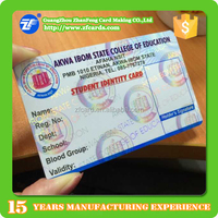 6 years gold supplier EM4305 pvc id card design sample from China manufactory