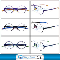 Most popular design compact reading glasses metal round frame reading glasses MOQ 1200pcs meet CE/FDA BRM3968