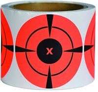 "Hunting Red Self-Adhesive Shooting Targets,High-Contrast Radiant Red color Target Spots, 1""& 2"" & 3"" Red Target Spots"