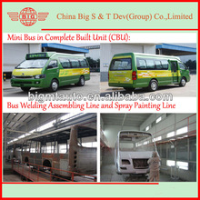 supply 15 to 18 seat mini bus or middle bus assembly plant production line in local