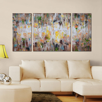 High Quality Modern Stretched Abstract Paintings Acrylic Textured