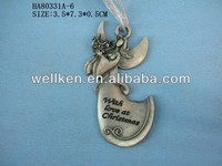 zinc alloy fairy,metal christmas ornaments 2014